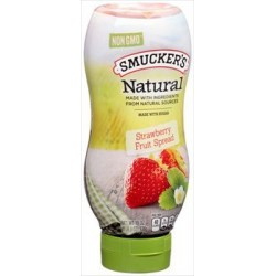 Smucker's Natural Strawberry Squeeze Bottle Fruit Spread 19 oz