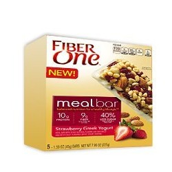 Kellogg's, Fiber One, Meal Bars, Strawberry Greek Yogurt, 5 Count, 7.95 oz Box