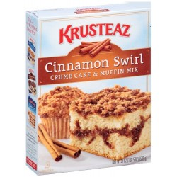 Krusteaz Cinnamon Swirl Crumb Cake and Muffin Mix, 21-Ounce Boxes