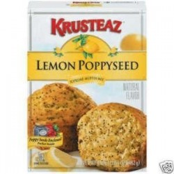 Krusteaz, Lemon Poppyseed Muffin Mix, 17 oz Box