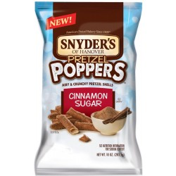 Snyders of Hanover, Pretzel Poppers, 10 Oz Bag, Cinnmon Sugar)